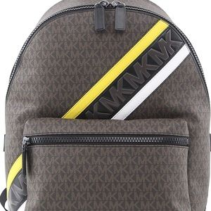 Michael Kors Cooper Logo Backpack in Brown & Lemon